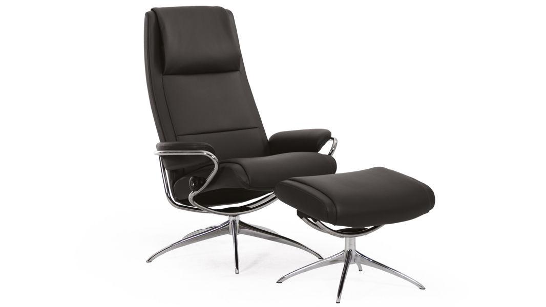 Stressless Sessel Und Hocker Paris Schwarz Wohnzimmer