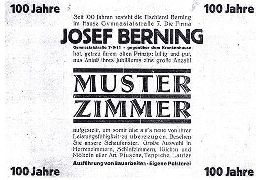 moebel-berning-100-jahre-jubilaeum-festausgabe-lingen-anzeige