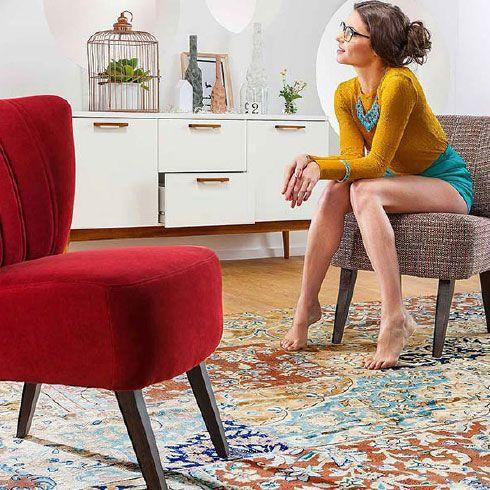 moebel-berning-lingen-rheine-wohnwelten-wohnen-sessel-retro-rot-vintage-sideboard