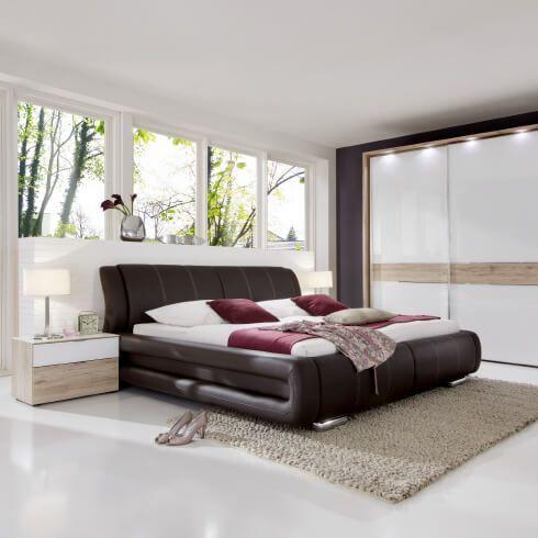 moebel-berning-lingen-rheine-markenwelten-schlafen-staud-polsterbett-braun-kleiderschrank-weiss-beleuchtung
