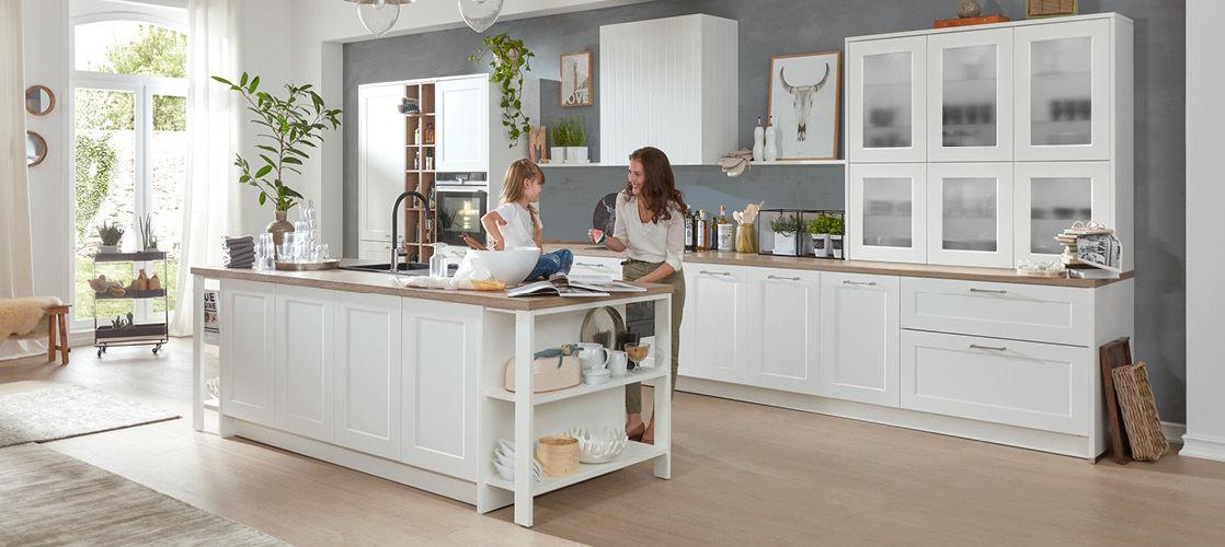 Landhaus Kuchen Bei Mobel Berning In Lingen Und Rheine