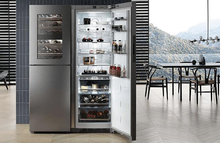 moebel-berning-kuechenstudio-lingen-rheine-osnabrueck-elektrogeraete-miele-kühlschrank-kühl-und-gefrierkombination-side-by-side