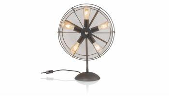 Coco Maison Tischlampe Fan 35055-ANT Schwarz