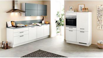 Nobilia Küchenzeile Mod. Speed 239 weiss, Hänger in Color Concept 254 aqua