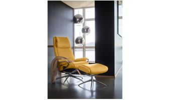 Stressless Sessel und Hocker Paris Gelb