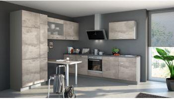 Praktische Küche Beton von Express mit Front in Betonfarben