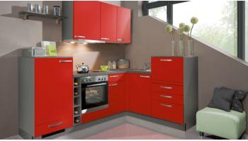 Chice L-Küche Win von Express mit Front in Matt, Rot