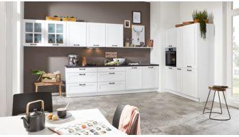 Küchenzeile Serie 3023 von Interliving mit Front in Softmatt, Weiss