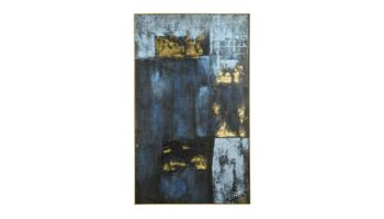Coco Maison Bild Blue Abstract 39366-BLW Blau