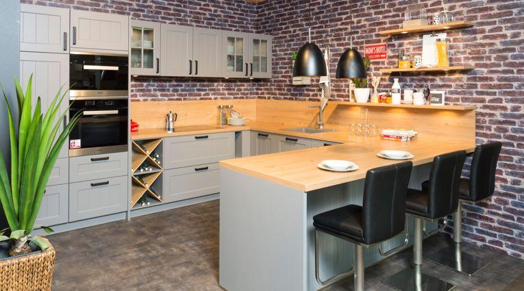 Wert Küche - Carina - U-Küche - Ausstellungsküche - LI-Koje 101