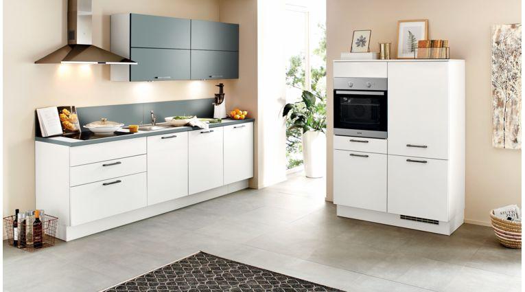 Küchenzeile Speed von Nobilia mit Front in Weiß