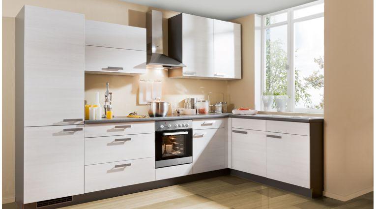 Praktische L-Küche Plan von Express mit Front in Eiche Weiß