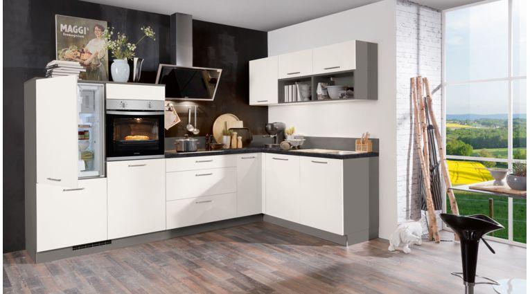 L-Küche Moon von Express mit Front in Matt, Weiß
