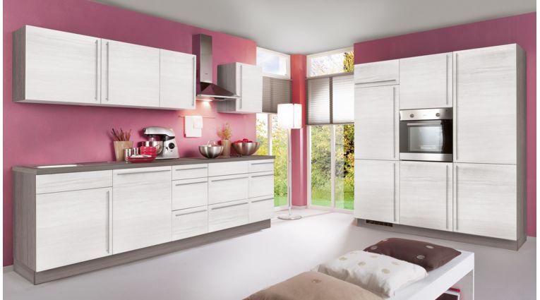 Küchenzeile Plan von Express mit Front in Eiche Weiss
