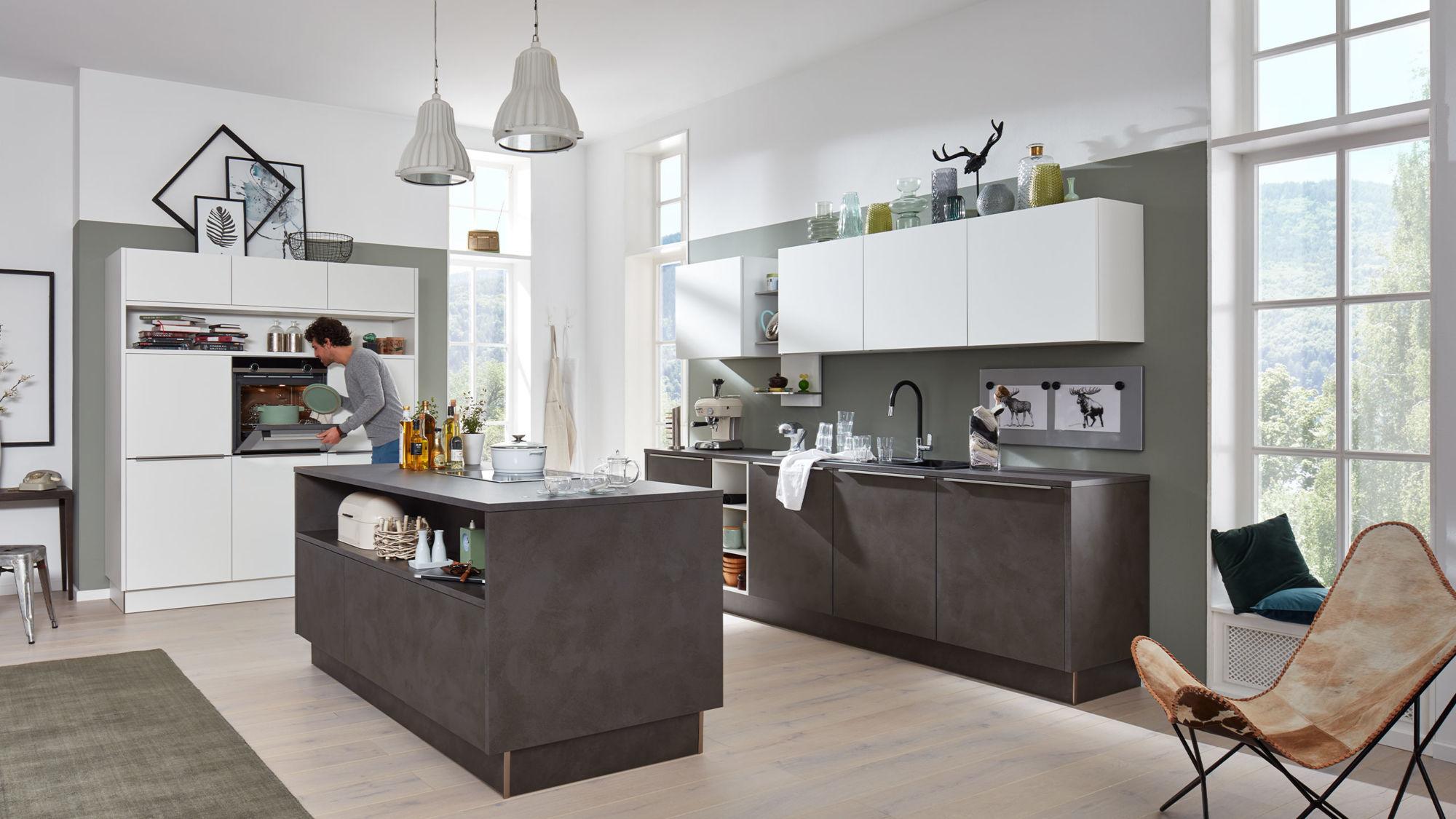 große inselküche 3660 portland von interliving küche mit